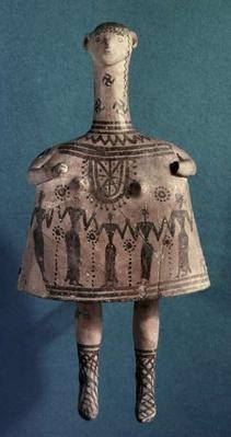 Bell idol, from Thebes, Boeotia, c.700 BC
