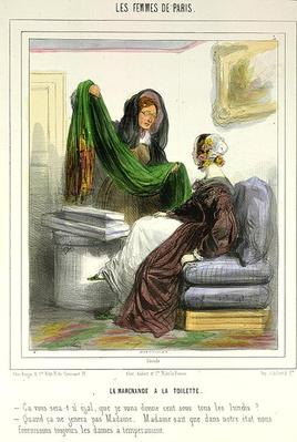 The Cloth Seller, plate 5 from 'Les Femmes de Paris', 1841-42