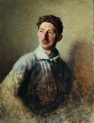 Portrait of the poet Sergey Gorodetsky
