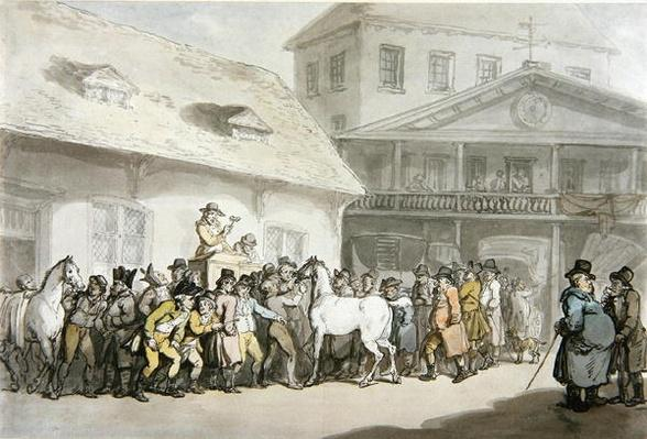 A Horse Sale at Hopkins's Repository, Barbican, c.1798-1800