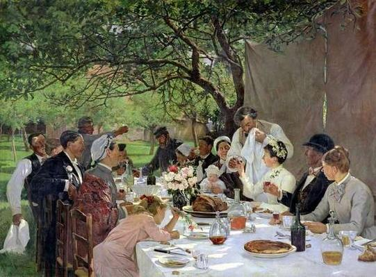 The Wedding Meal at Yport, 1886