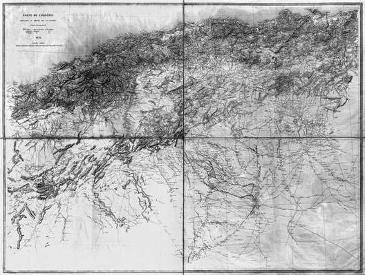 Map of Algeria, 1876