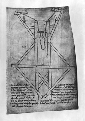 Trebuchet, machine to throw arrows and javelins