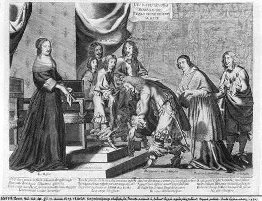The chiefs of the Fronde admitted to greet the King Louis XIV