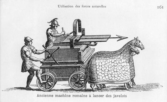 Roman war machine for firing javelins