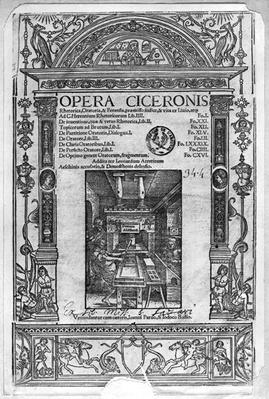 Title page of 'Opera Ciceronis', published 1520