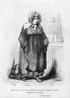 Madame Vauquer, illustration from 'Le Pere Goriot' by Honore de Balzac