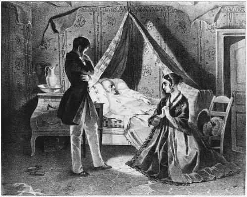 Father Goriot on his Deathbed, illustration from 'Le Pere Goriot' by Honore de Balzac