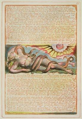 'Jehovah stood among the Druids...', plate 63 from 'Jerusalem', 1804-20