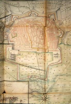 Plan of Toulon, 1669