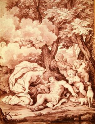 Venus Discovering Adonis, from 'Adonis' by Jean de La Fontaine