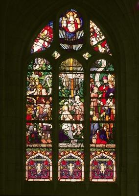 Window depicting the baptism of Christ, 1490