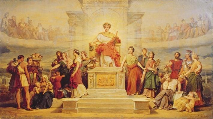 Allegory of the City of Paris, study for the decoration of the Hotel de Ville, 1842
