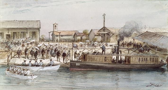 The Inauguration of the Suez Canal by the Empress Eugenie