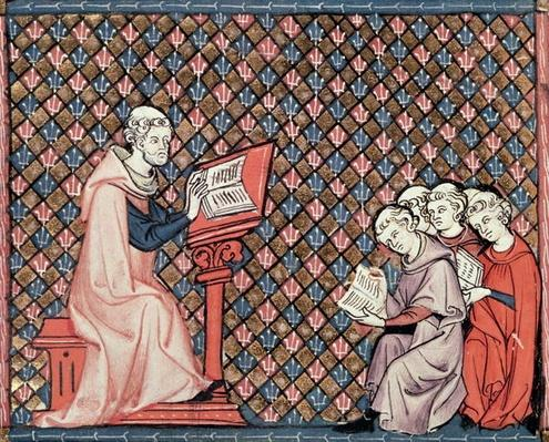 Ms 1044 fol.73v A philosophy lesson, from Ovide Moralise written by Chretien Legouis