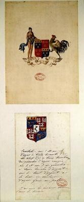 Coats of arms of Honore de Balzac