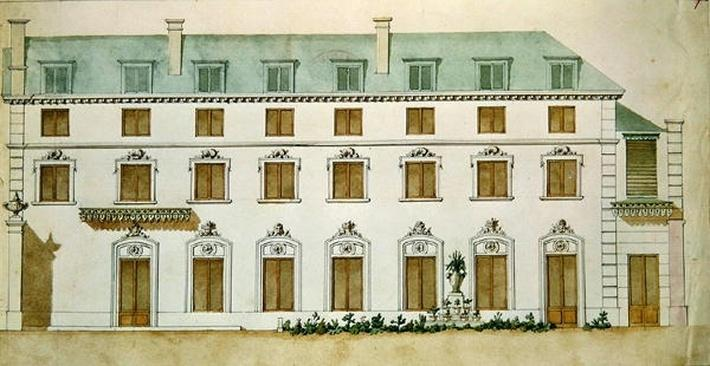 Facade of the house in rue Fortunee, bought by Honore de Balzac