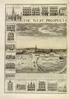 The West Prospect of the Town of Great Yarmouth in Norfolk, engraved by John Harris