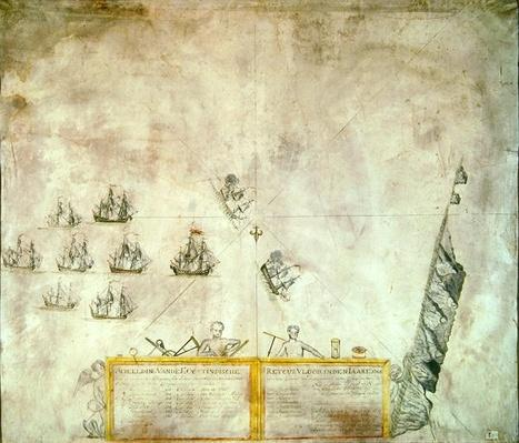 The Fleet of the Dutch Indies Company off St. Helena, 1746