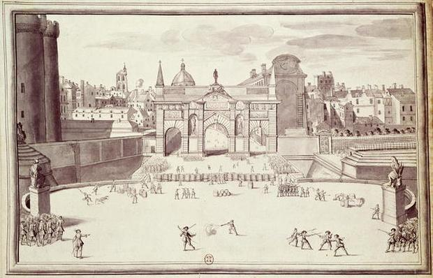 Barricades at Porte Sainte-Antoine, 26th August 1648