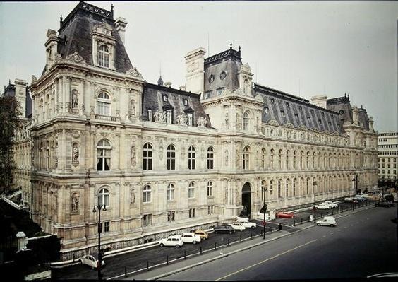 Rear facade of the Hotel de Ville, built in 1873-82
