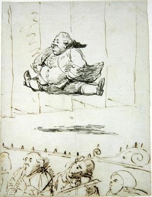A Man doing the Splits, c.1760-90