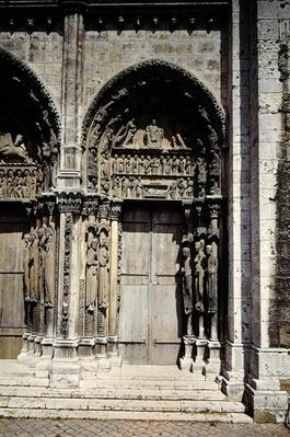 View of the South Door of the Royal Portal, c.1145-50