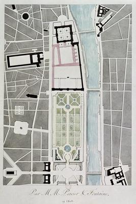 Design for joining the Tuileries to the Louvre, 1808