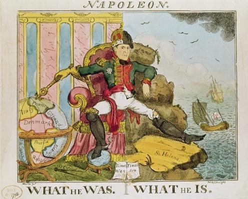'What He Was. What He Is', caricature of Napoleon