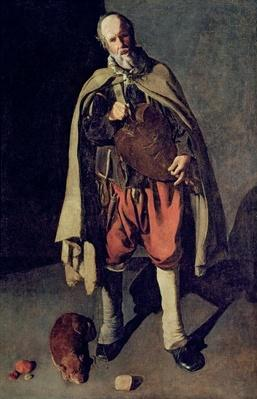 The Hurdy Gurdy Player with his Dog, 1620s
