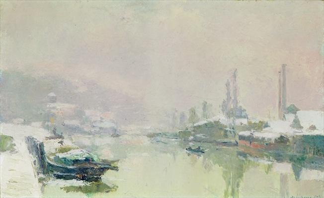 The Ile Lacroix under Snow, 1893