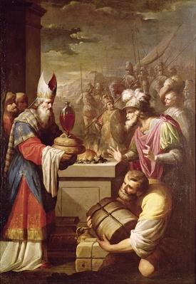 Melchizedek Offering Bread and Wine
