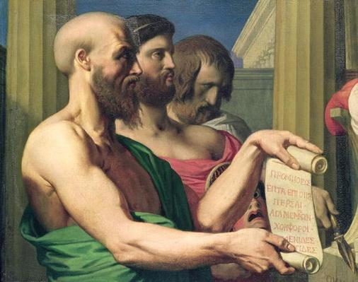 The Greek Tragedians, study for 'The Apotheosis of Homer'