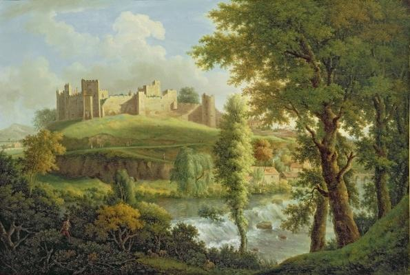 Ludlow Castle with Dinham Weir, from the South-West, c.1765-69