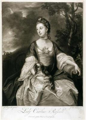 Lady Caroline Russell, engraved by James McArdell
