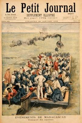Events in Madagascar: The Repatriation of French troops, illustration from 'Le Petit Journal', 20th January 1896