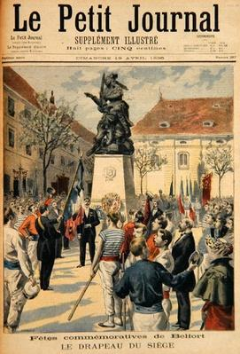 Commemoration of the Siege of Belfort, illustration from 'Le Petit Journal', 19th April 1896