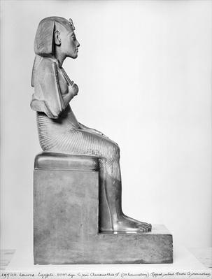 Seated statue of Amenophis IV