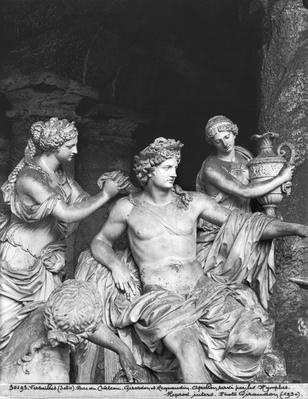 Apollo tended by the nymphs in the grove of the Baths of Apollo, executed with the assistance of Thomas Regnaudin
