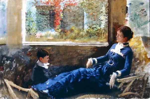 Resting, 1879