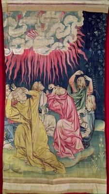 The Fourth Angel Poured out his Bowl on the Sun, no.60 in the 'Apocalypse of Angers', 1373-87