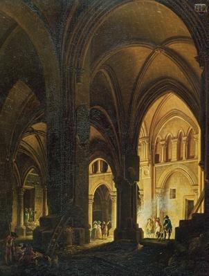 Interior of the Eglise des Saints-Innocents, Paris, after 1789
