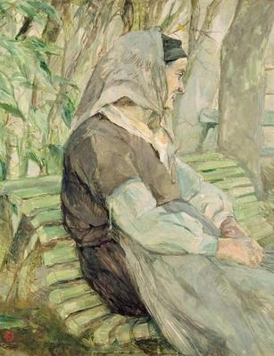 Old Woman Seated on a Bench in Celeyran, 1882