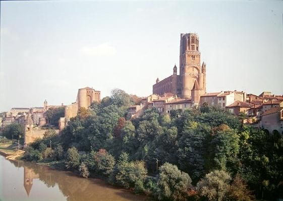 View of Albi Cathedral, begun in 1282