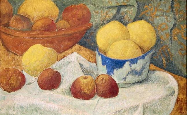 Apples with a Blue Dish, 1922