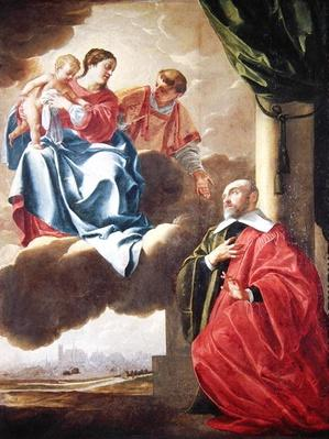 Pierre Tullier Before the Virgin and Child and St. Stephen