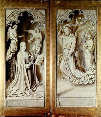 The Annunciation, from the Bourbon Altarpiece, c.1498