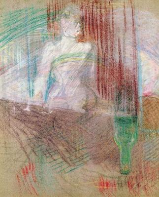 Woman standing behind a table, from 'Elles', 1889