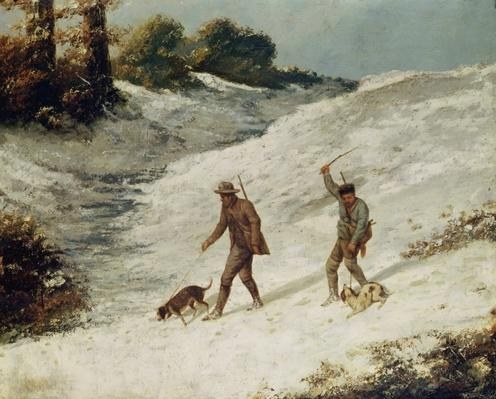 Hunters in the Snow or The Poachers