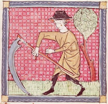 Fol.58v June: Haymaking